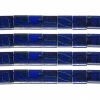 Miyuki Tila Beads 5X5mm 2 Hole Royal Blue with Turquoise Picasso Opaque